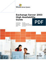Exchange Server 2003 High Availability Guide