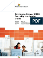 Exchange Server 2003 Security Hardening Guide