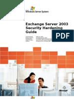 Exchange Server 2003 Security Hardening Guide