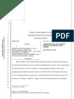 Apple v Samsung United States - Document 399