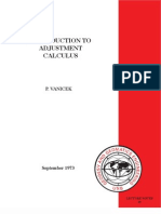 Introduction to Adjustment Calculus