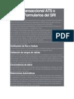 Anexo Transaccional ATS o REOC y Formularios Del SRI