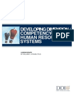 Developing Competency Based HR Systems