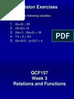 Week 3 Relations & Functions