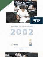 Informe Pruebas Rendimiento Academico 2002
