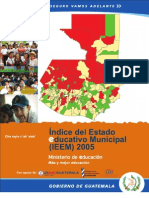 Indice Estado Educativo Municipal (Guatemala 2005)