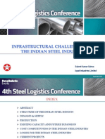 Infrastructural Challenges in Steel Industry -Best Paper published in 4th International Steel Logistics Conference in Antwerp