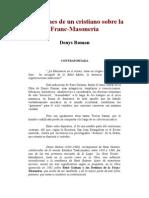 Roman Denys - Reflexiones de Un Cristiano Sobre La Francmasoneria