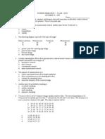 Nursing Research i Class Quiz 10-19-99