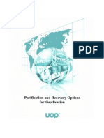 Purification and Recovery Options for Gasification
