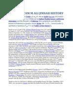 Quiad e Azam m Ali Jinnah History Muhammad Ali Jinnah