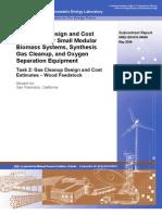 Equipment Design and Cost Estimation for Small Modular Biomass