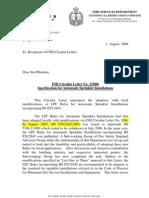 Specification for Sprinkler LPC - FSD Circular 2006_03
