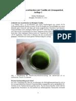 Reaktion von Ascorbinsäure mit Vanillin als Lösungsmittel, Auflage 2
