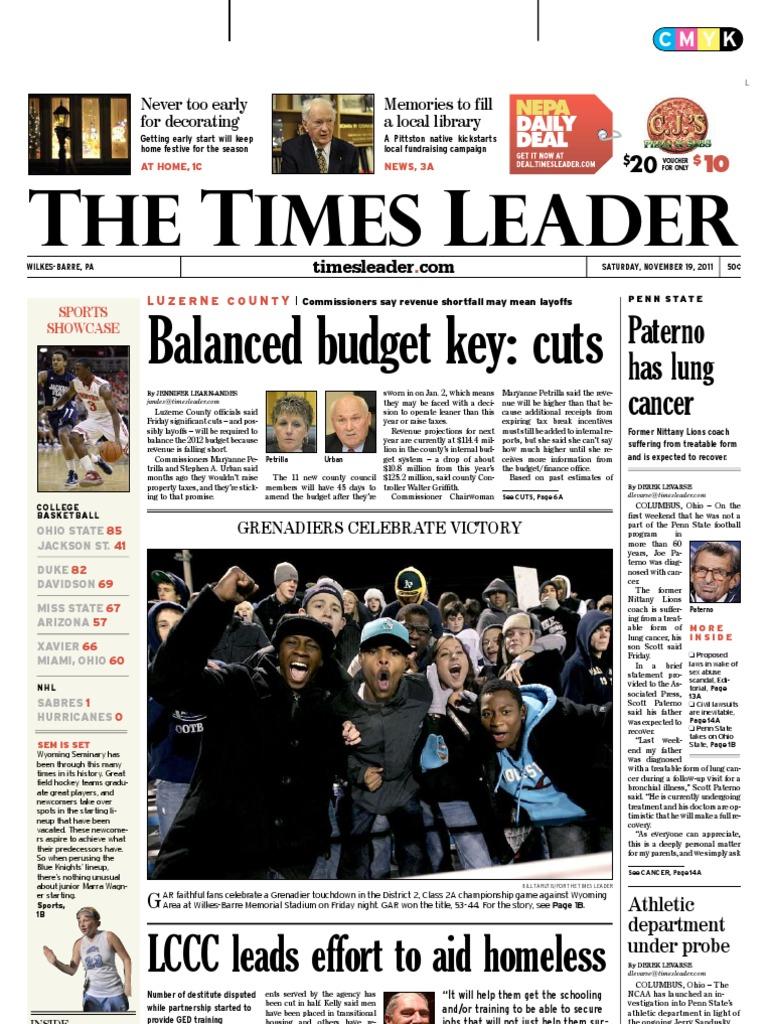 Times Leader 11-19-2011  d098a0da4