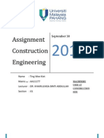 Assignment Construction Engineering