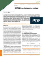 Review of TOF-SIMS Bio Analysis Using Mutual Information