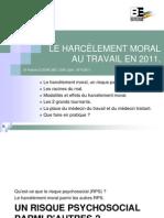 Harcèlement Moral 2011