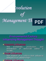 2) 3) Evolution of Management Thought