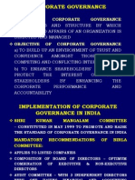 Corporate Governance Some Thoughts in Indian Context(1)