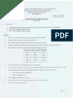 Engineering Surveying -1 Past Paper - NEDUET