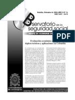 Evaluación Económica en Salud-tópicos Teóricos y Apliaciones en Colombia GES U de A