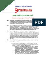 Blasphemy Laws in Pakistan