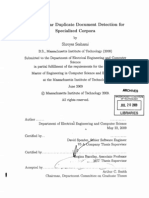 Efficient Near Duplicate Document Detection for Specialized Corpora (2008)