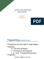 Algorithms for Duplicate Documents Prince Ton)