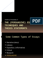Persuasive Essay Writing- Oct.31-Nov.4