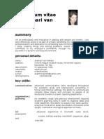 Anemari van Niekerk CV