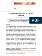 The Effect of Surface Films on Cathodic Protection