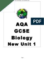 new aqa gcse biology unit 1 summary notes 1