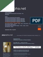 IPA Psychoanalytic Training - Standards