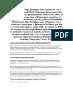 El Sistema de Pago de Obligaciones Tri but Arias Con El Gobierno Central