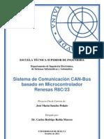 Sistema de Comunicación CANBus Basado en Microcontrolador Renesas R8C/23