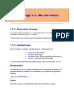 ARREGLOS UNIDIMENCIONALES.