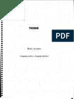 Arvatov - Lenguaje Poético y Lenguaje Práctico