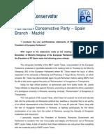 Press Release Conservative Party Tokes Laszlo