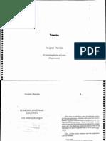 Derrida - El Monolingüismo Del Otro Fragmentos