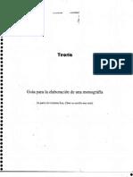 Guía Para La Elaboración de Una Monografía