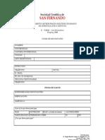 Ficha de Inscripción X CUMIS