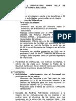 ACTIVIDADES PROPUESTAS POR EL AMPA PARA CURSO 2011-2012
