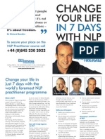 Change Your Life in 7 Days With Nlp- Paul Mckenna Brochure