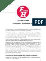 Discours de Francois Hollande lors du 10e congrès du Mouvement des Jeunes Socialistes.