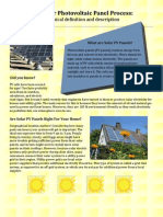 The Solar Photo Voltaic Panel Process