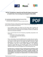 Call for Transparent, Impartial and Pluralist Expert Assessment