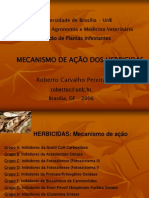 Mecanismo de ação dos herbicidas