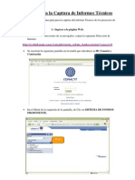 Manual Para La Captura de Informes Tecnicos