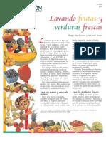 Washing Fresh Fruits and Vegetables (Spanish)